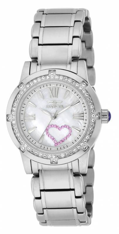 Invicta Women's 18604 Angel Quartz 3 Hand White Dial Watch