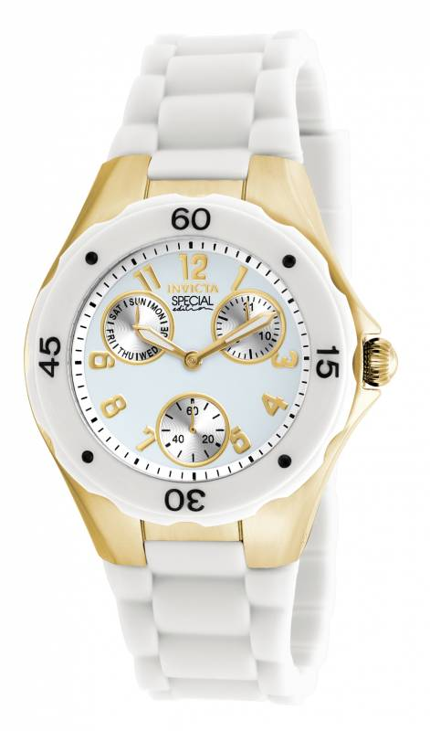 Invicta Women's 18796 Angel Quartz Chronograph White Dial Watch