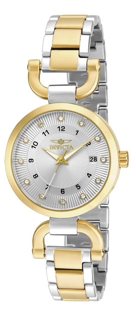 Invicta Women's 18800 Angel Quartz 3 Hand Silver Dial Watch