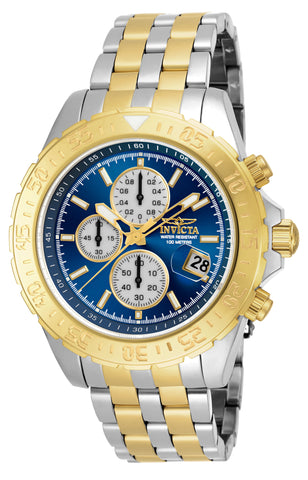 Invicta Men's 18851 Aviator Quartz Multifunction Blue Dial Watch
