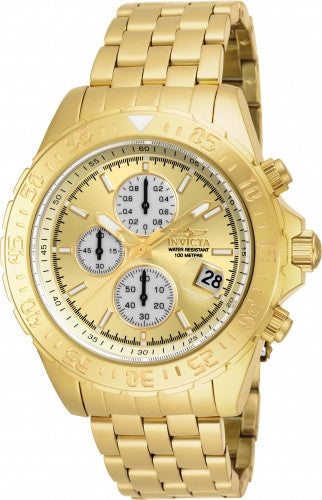 Invicta Men's 18854 Aviator Quartz Multifunction Gold Dial Watch