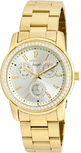Invicta Women's 18990 Angel Quartz Chronograph Gold Dial Watch