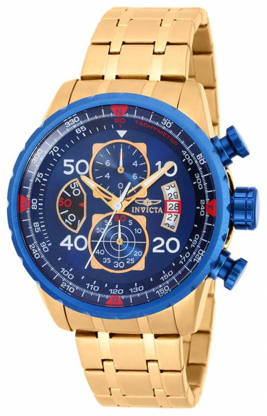 Invicta Men's 19173 Aviator Quartz Chronograph Blue Dial Watch