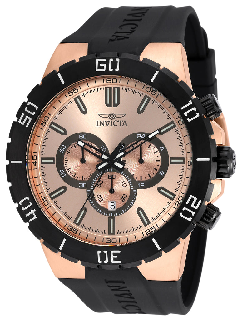 Invicta Men's 19198 Pro Diver Quartz Chronograph Rose Gold Dial Watch