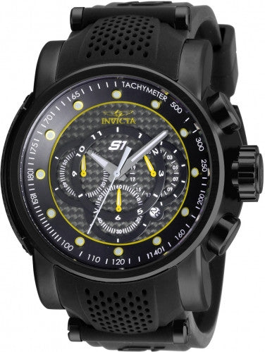 Invicta Men's 19324 S1 Rally Quartz Multifunction Black, Yellow Dial Watch