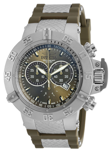 Invicta Men's 19338 Subaqua Quartz Chronograph Olive Green Dial Watch