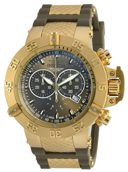 Invicta Men's 19339 Subaqua Quartz Chronograph Olive Green Dial Watch