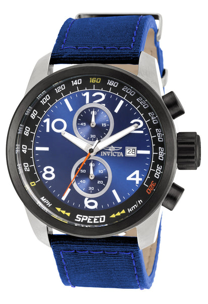 Invicta Men's 19411 Aviator Quartz Multifunction Blue Dial Watch