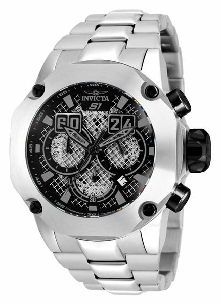 Invicta Men's 19428 S1 Rally Quartz Chronograph Black Dial Watch