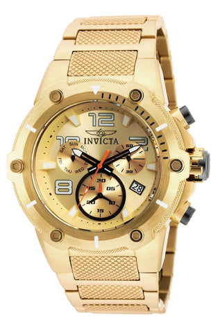 Invicta Men's 19529 Speedway Quartz Chronograph Gold Dial Watch