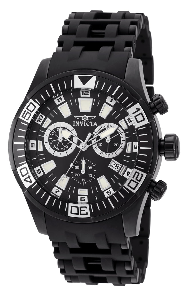 Invicta Men's 19533 Sea Spider Quartz Chronograph Black Dial Watch