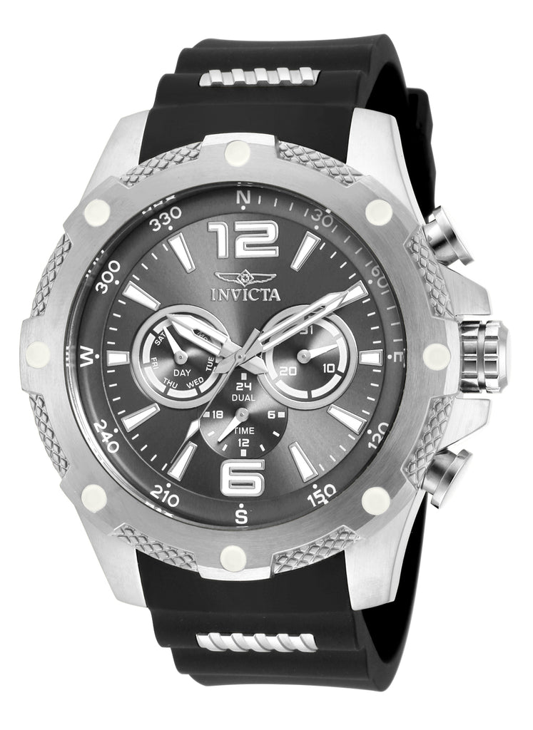 Invicta Men's 19656 I-Force Quartz Chronograph Charcoal, Grey Dial Watch