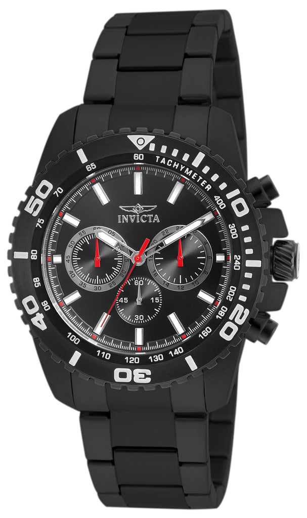 Invicta Men's 19848 Pro Diver Quartz Chronograph Black Dial Watch