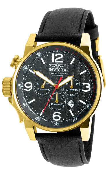 Invicta  Men's 20135 I-Force Quartz Chronograph Black Dial Watch