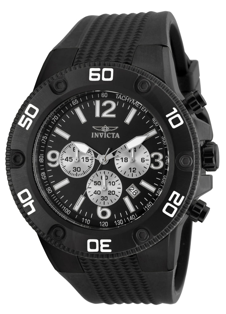 Invicta Men's 20274 Pro Diver Quartz Chronograph Black Dial Watch