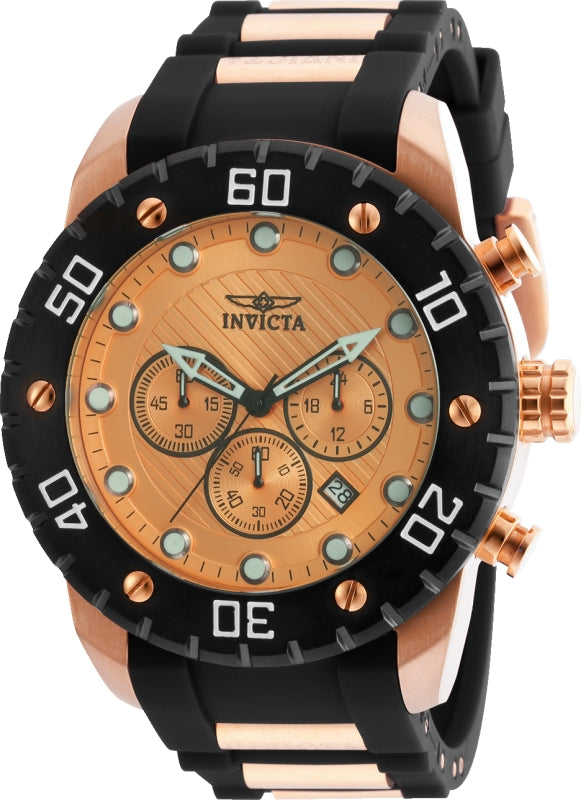 Invicta Men's 20281 Pro Diver Quartz Chronograph Rose Gold Dial Watch