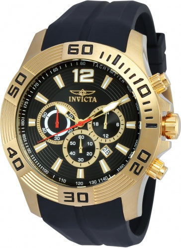 Invicta Men's 20300 Pro Diver Quartz Chronograph Black Dial Watch