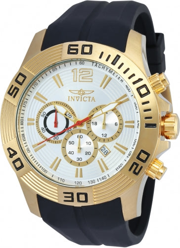 Invicta Men's 20301 Pro Diver Quartz Chronograph Silver Dial Watch