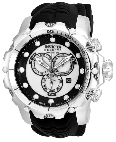 Invicta Men's 20395 Venom Quartz Chronograph White, Black Dial Watch