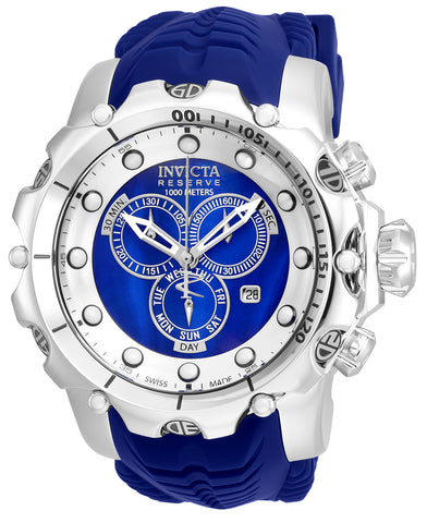 Invicta Men's 20397 Venom Quartz Chronograph Silver, Blue Dial Watch