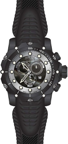 Invicta Men's 20399 Venom Quartz Chronograph Black, Silver Dial Watch