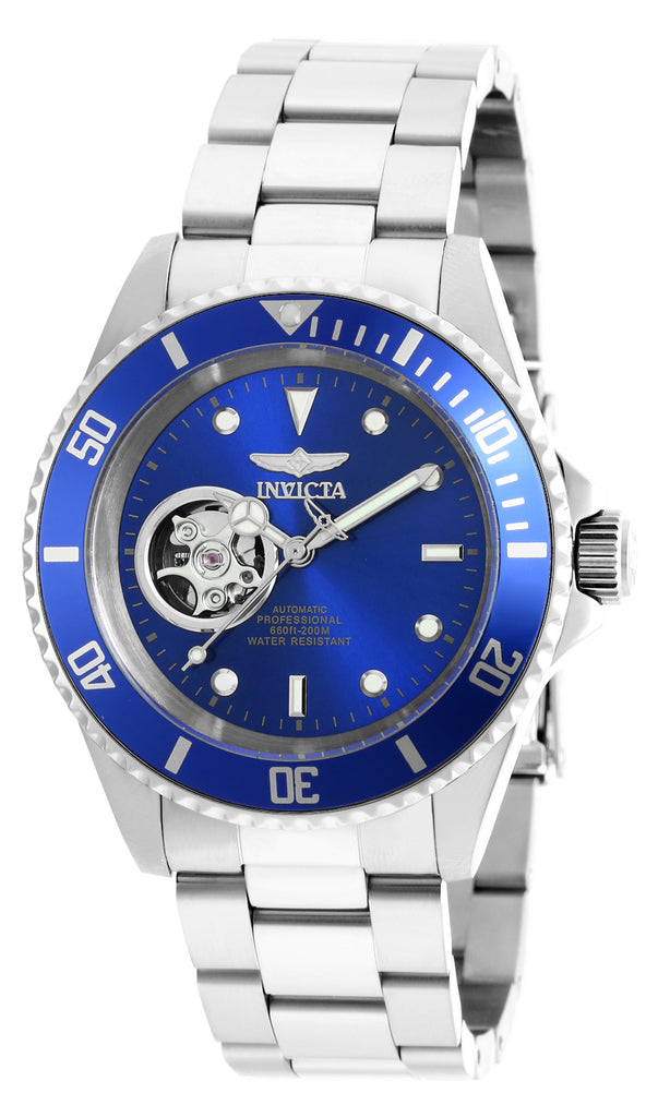 Invicta Men's 20434 Pro Diver Automatic 3 Hand Blue Dial Watch