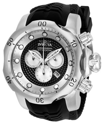 Invicta Men's 20439 Venom Quartz Multifunction Black, Silver Dial Watch
