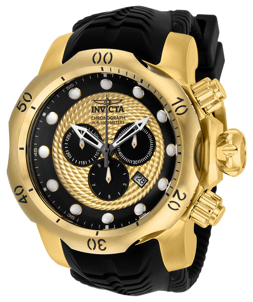 Invicta Men's 20443 Venom Quartz Chronograph Gold, Black Dial Watch