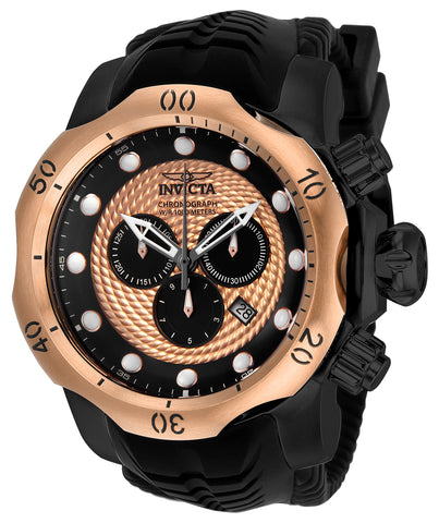 Invicta Men's 20445 Venom Quartz Chronograph Black, Rose Gold Dial Watch