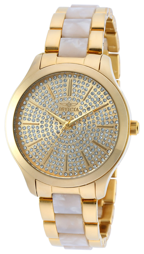 Invicta Women's 20495 Angel Quartz Chronograph Gold Dial Watch