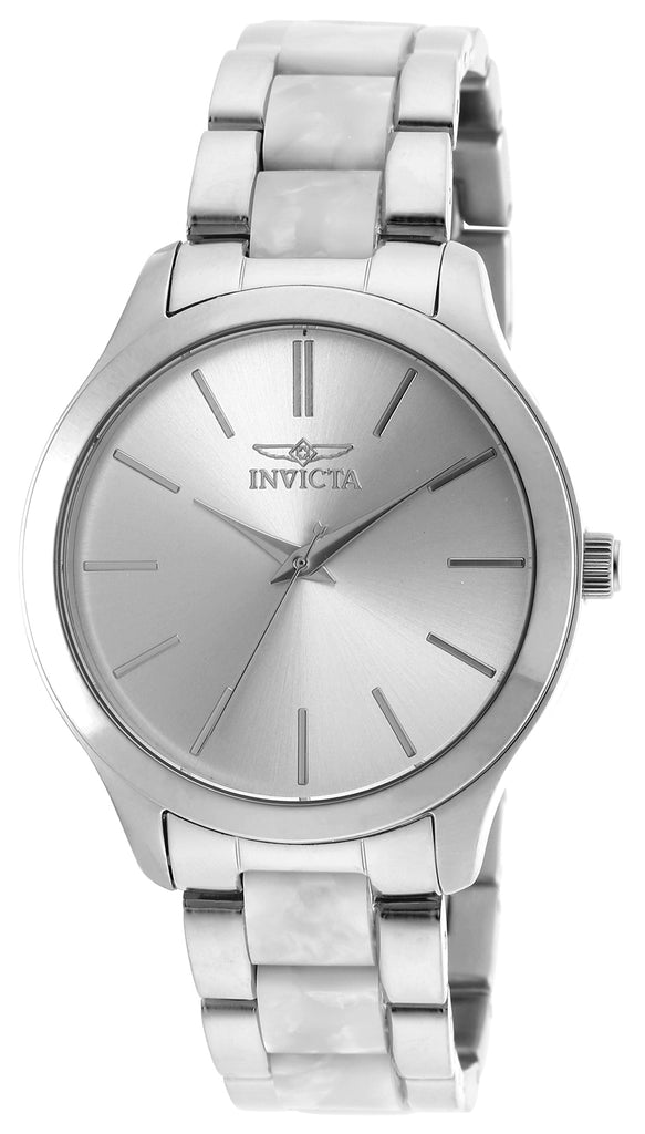 Invicta Women's 20499 Angel Quartz 3 Hand Silver Dial Watch