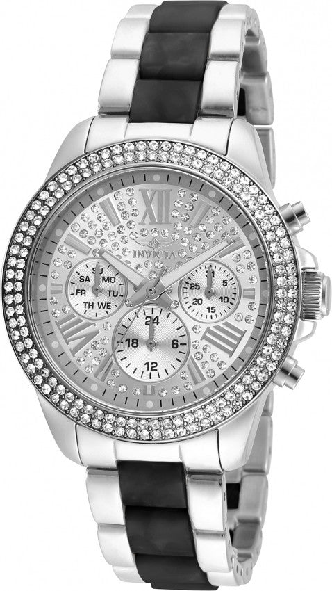 Invicta Women's 20510 Angel Quartz Multifunction Silver Dial Watch