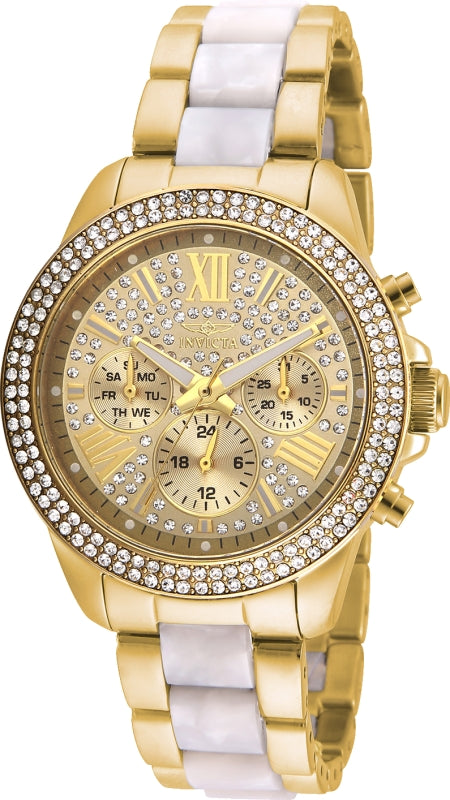 Invicta Women's 20511 Angel Quartz Multifunction Gold Dial Watch