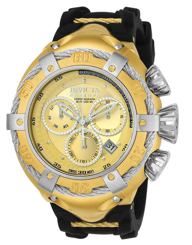 Invicta Men's 21352 Bolt Quartz Chronograph Gold Dial Watch