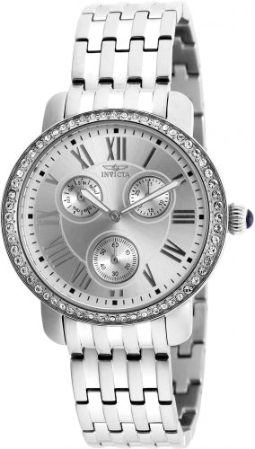 Invicta Women's 21411 Angel Quartz Multifunction Silver Dial Watch