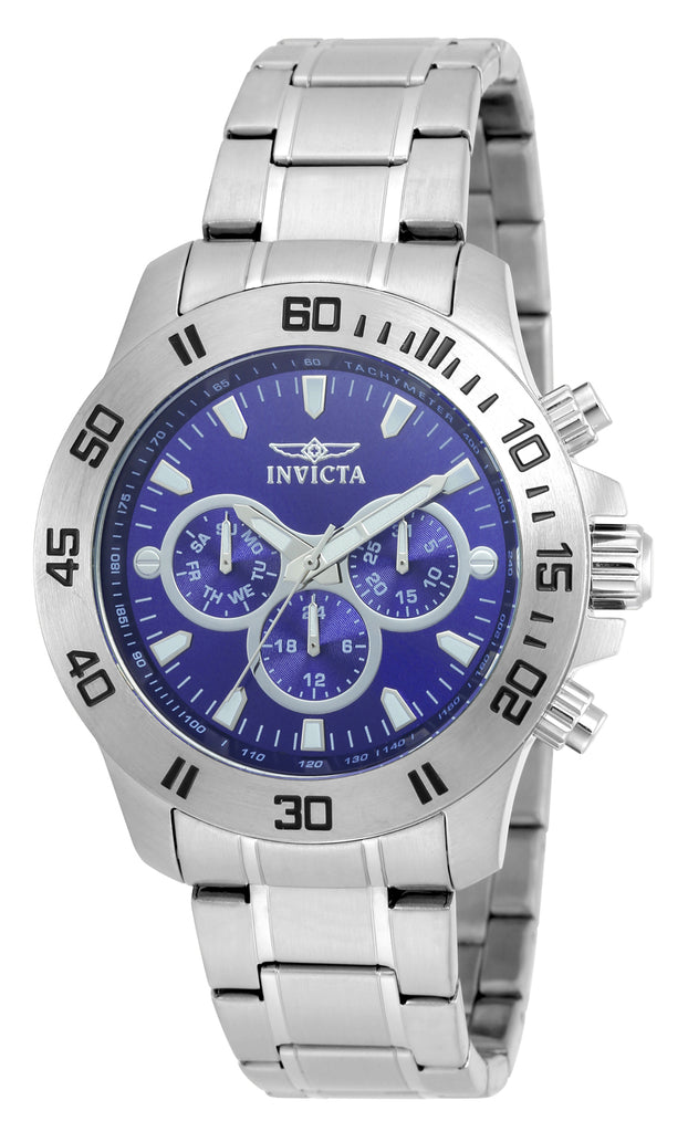 Invicta Men's 21482 Specialty Quartz Chronograph Blue Dial Watch