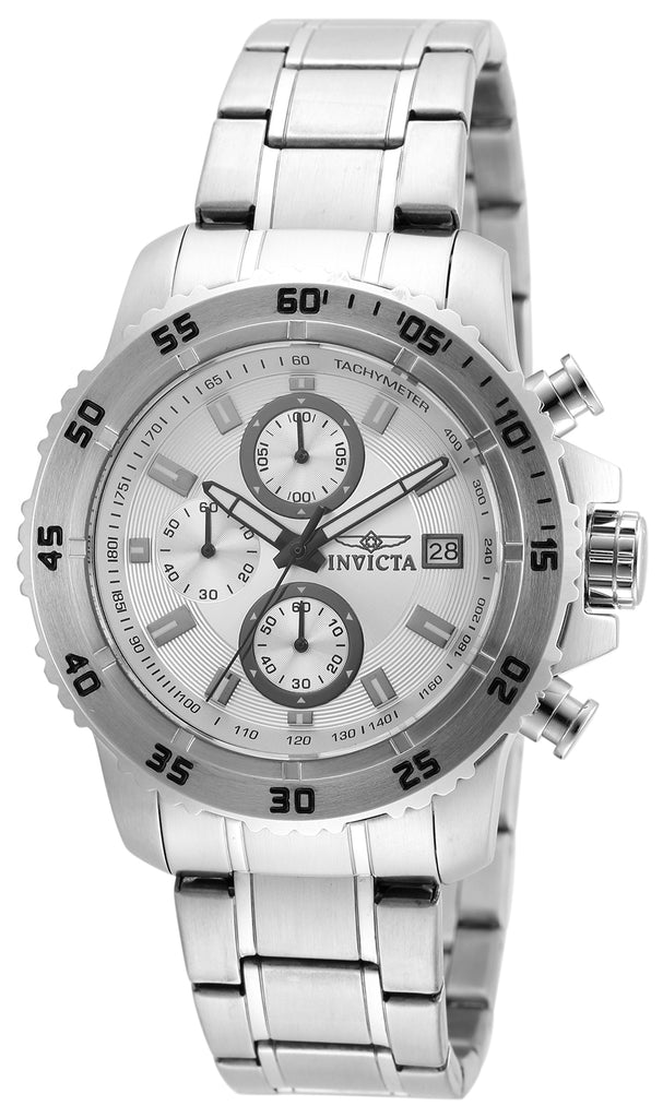 Invicta Men's 21570 Pro Diver Quartz Multifunction Silver Dial Watch