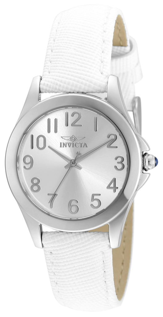 Invicta Women's 21583 Angel Quartz 3 Hand Silver Dial Watch