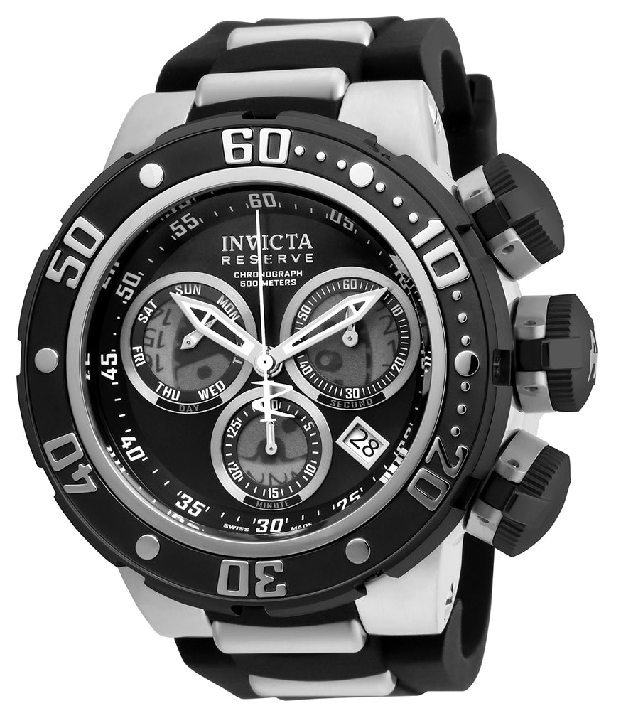 Invicta Men's 21639 Reserve Quartz Chronograph Black, Grey Dial Watch