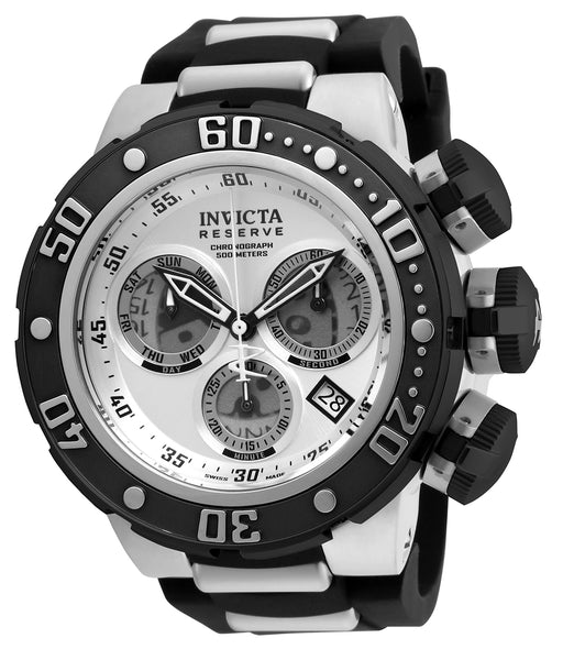 Invicta Men's 21640 Reserve Quartz Chronograph Silver, Grey Dial Watch