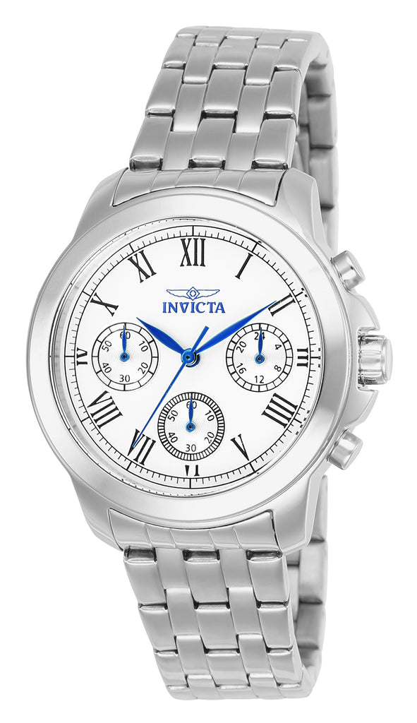 Invicta Women's 21653 Specialty Quartz Chronograph Silver Dial Watch