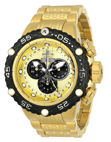 Invicta Men's 21676 Subaqua Quartz Chronograph Gold, Black Dial Watch