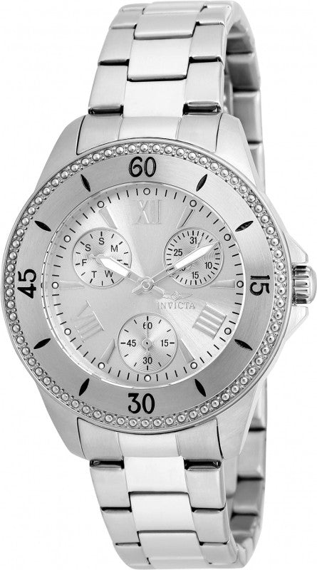 Invicta Women's 21682 Angel Quartz Chronograph Silver Dial Watch