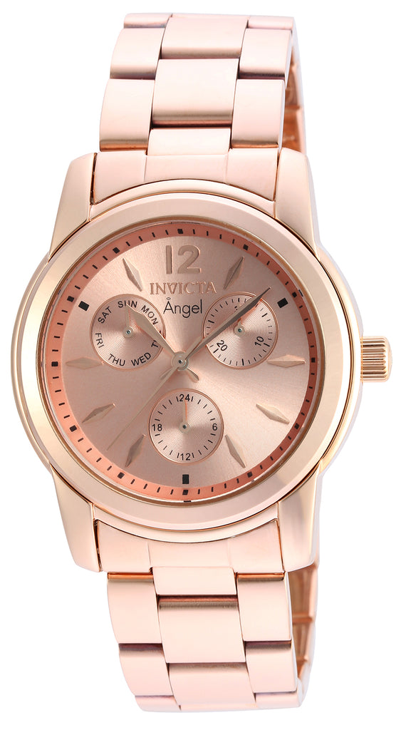 Invicta Women's 21692 Angel Quartz Chronograph Rose Gold Dial Watch