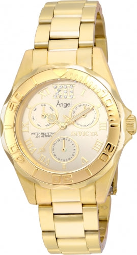 Invicta Women's 21697 Angel Quartz Chronograph Gold Dial Watch