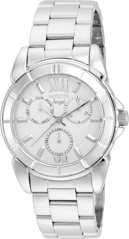 Invicta Women's 21699 Angel Quartz Chronograph Silver Dial Watch