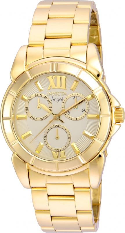 Invicta Women's 21700 Angel Quartz Chronograph Gold Dial Watch