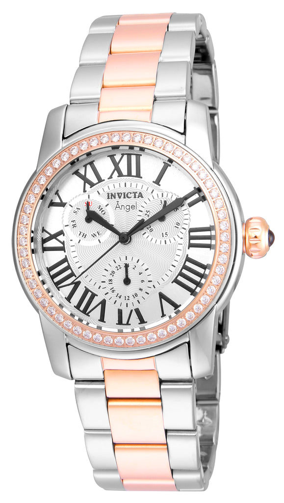 Invicta Women's 21708 Angel Quartz 3 Hand Silver Dial Watch