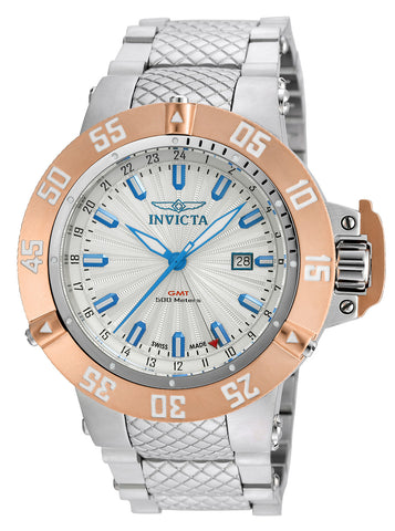Invicta Men's 21728 Subaqua Quartz 3 Hand Silver Dial Watch