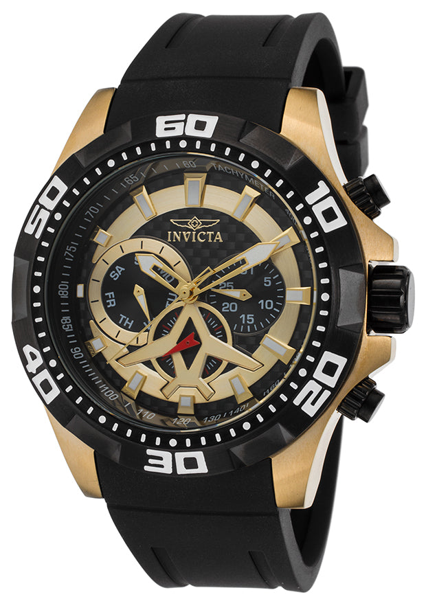 Invicta Men's 21739 Aviator Quartz Multifunction Black Dial Watch